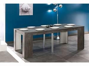 beautiful table beton cire maison du monde images With table beton cire exterieur