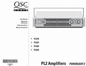 Qsc Powerlight 2 Pl218 User Manual Pdf Download