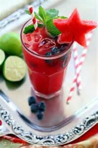 Blueberry Watermelon Cocktail