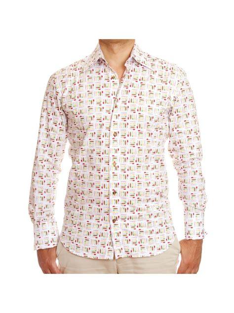 chemise de cuisine chemise ustensiles de cuisine imprimée cintrée