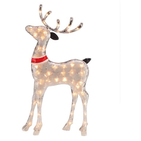 pre lit reindeer christmas decoration yard outdoor indoor