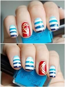 Sailor nail art – honeymunchkin