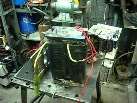 dangerous rf welder transformer   arcs youtube