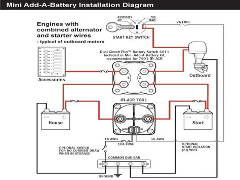 twin engine boat battery wiring diagram wiring forums