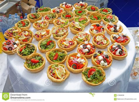 mini canape ideas canapes pastry stock photo image 57868938