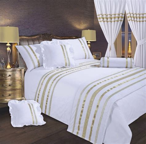 White And Gold Bed Covers by White Gold Colour Stylish Sequin Duvet Cover Luxury
