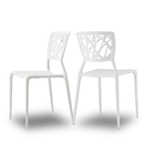 Chaises Design Blanches by Chaises Orange Pour Jardin Candice X2 Par Drawer