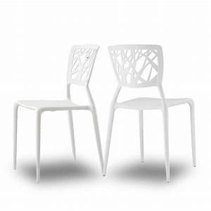 Chaise Blanche Plastique : chaises orange pour jardin candice x2 par drawer ~ Teatrodelosmanantiales.com Idées de Décoration
