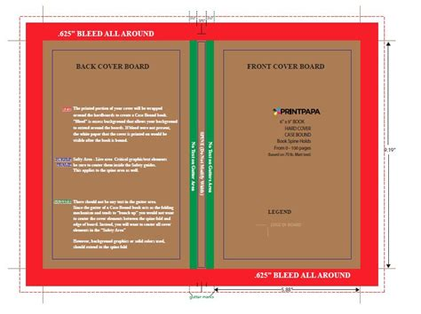 6x9 Book Template For Word by Find A Printing Template Printpapa