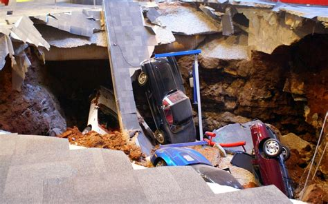 Corvette Museum Sinkhole 2014 by National Corvette Museum Sinkhole Collapse 2014 7