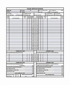 sample panel schedule templates 6 free documents With siemens panel schedule template