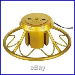 home heritage metal rotating tree stand with adaptors home heritage golden rotating tree stand for trees up to 9 decor