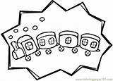 Caboose Coloring Train Land Transport Template Printable Coloringpages101 sketch template