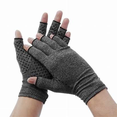 Gloves Arthritis Compression Rheumatoid Osteoarthritis Fingerless Support