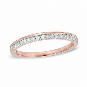 18 CT TW Diamond Wedding Band In 10K Rose Gold