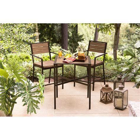 Balcony Furniture Set by Hd Designs Outdoors 3 Outdoor Balcony Set