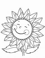 Coloring Sunflower Happy Pages Sunflowers Gogh Van Flower Fall Drawing Flowers Daisy Draw Getdrawings Colornimbus Fun Explore sketch template