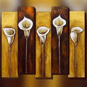 Tableau En Relief : peinture de fleur composition 3d dimensions 85x100cm ~ Melissatoandfro.com Idées de Décoration
