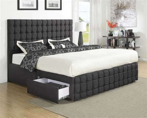 queen size bed frame furniture brown wooden  headboard