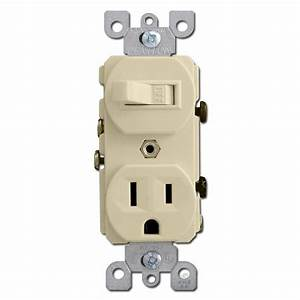 Ivory Combo Duplex Outlet And Toggle Switches