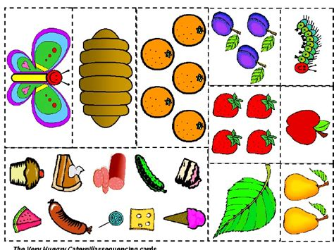 sequencing cards   hungry caterpillar