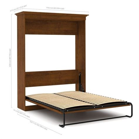 bestar versatile 70 queen wall bed in tuscany brown
