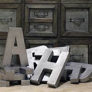 8 or 12 industrial faux metal letters zinc copper by shop1929 With faux metal letters