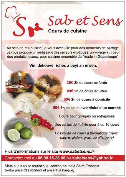 cuisine et sens sab et sens cours de cuisine francois cours de