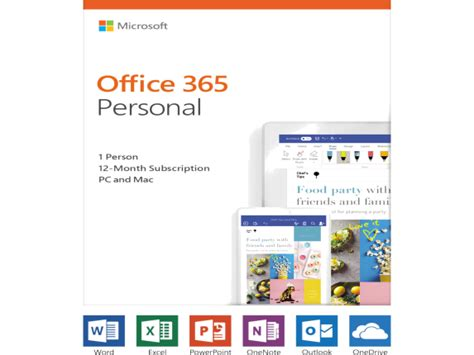 Office 365 Year by Microsoft Office 365 2019 Personal Subscription 1 User