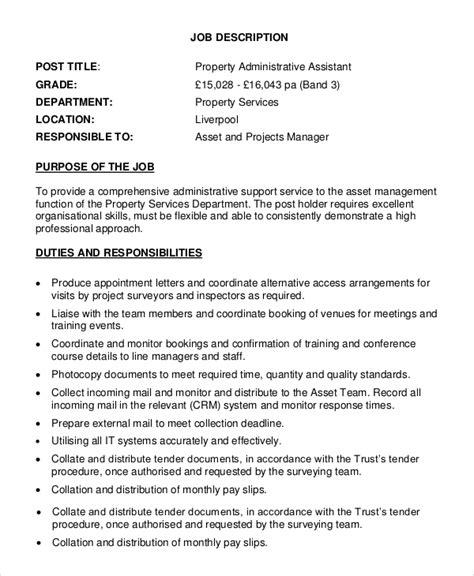 regional property manager description assistant