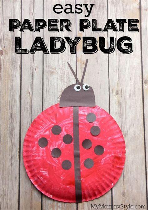 easy paper plate ladybug fun preschool ladybug craft