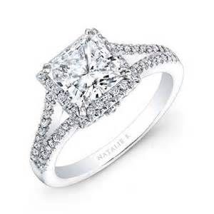 princess halo engagement rings fashion fok beautiful designed princess cut engagement rings platinum silver ring