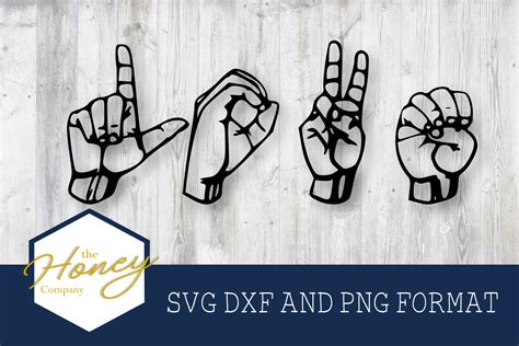 You can copy, modify, distribute and perform the work, even for commercial purposes, all. Love Sign Language SVG (Graphic) by The Honey Company ...