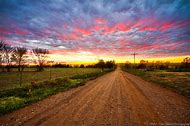 Country Dirt Road Sunset