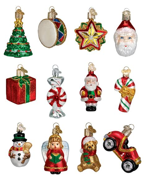 12 piece christmas ornament boxed set traditions