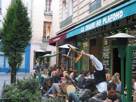 la chaise au plafond paris bars cafes restaurants
