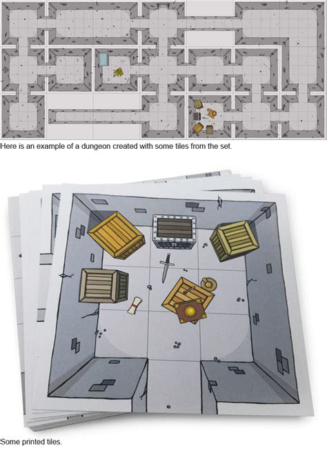 Dungeons And Dragons Tile Sets Pdf dungeon tiles set 1 small dungeon maps rpgnow