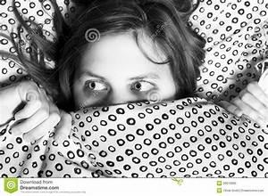 Scared Girl Hiding Under Blanket Royalty Free Stock Photo ...