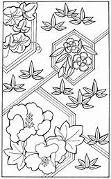 Bamboo Coloring Printable Japanese Morning Kimono Leaves Painted Pages Glories Worship Plant sketch template