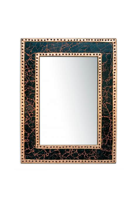 rectangular wall mirrors decorative decorshore 24 quot x 18 quot crackled glass mosaic wall mirror