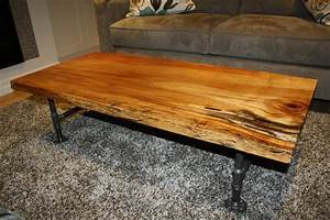 live edge spalted wormy maple coffee table 51l x 24w x With maple live edge coffee table
