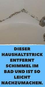 Schimmel Entfernen Bad : dieser haushaltstrick entfernt schimmel im bad und ist so ~ Watch28wear.com Haus und Dekorationen