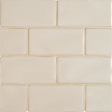 antique white 3x6 glazed handcrafted subway wallandtile