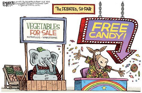 hilarious cartoon perfectly summarizes  democrat debate