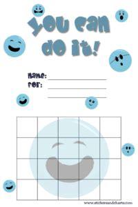 smiley face reward charts  kids emoji backgrounds
