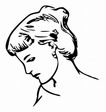 Profile Drawing Female Clipart Clip Drawings Svg