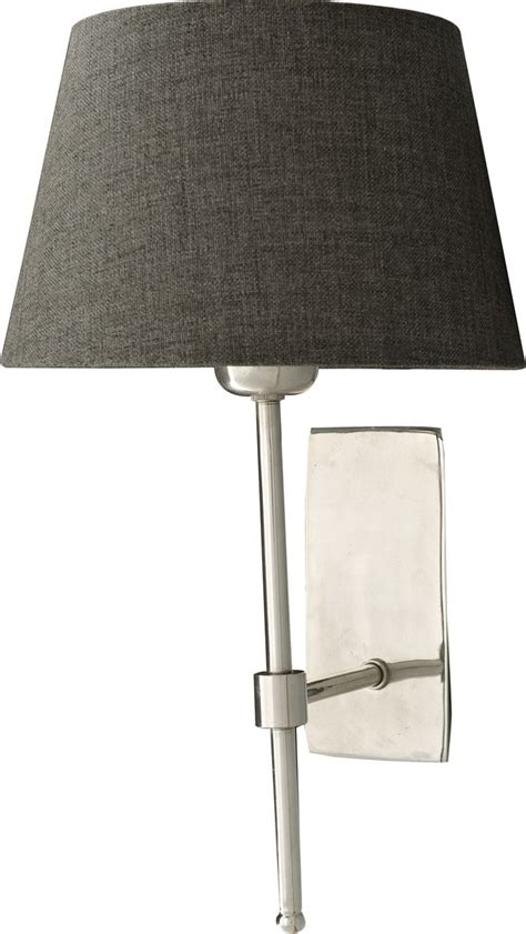 neptune accessories wall lights hanover nickel wall l with 7 5 quot henry shade slate