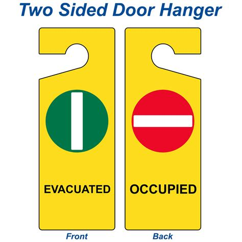 evacuated occupied sign nhe  emergency response