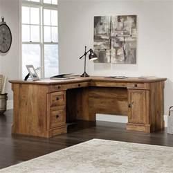 sauder palladia vintage oak l shaped computer desk 420606