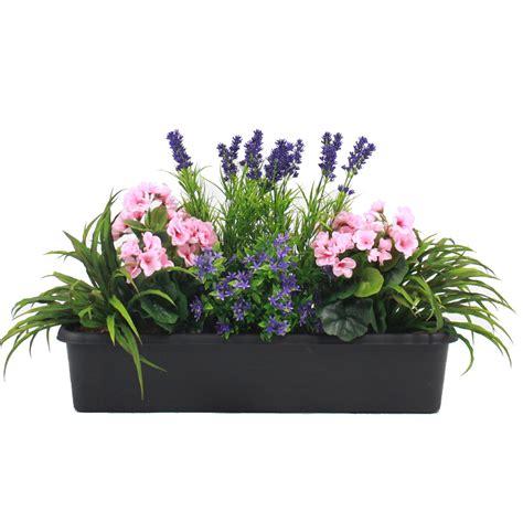 mixed flower window box artificial flower trough